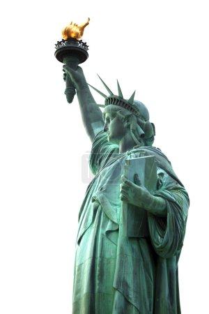 Photo pour Célèbre Statue de la Liberté de NY isolé sur fond blanc - image libre de droit