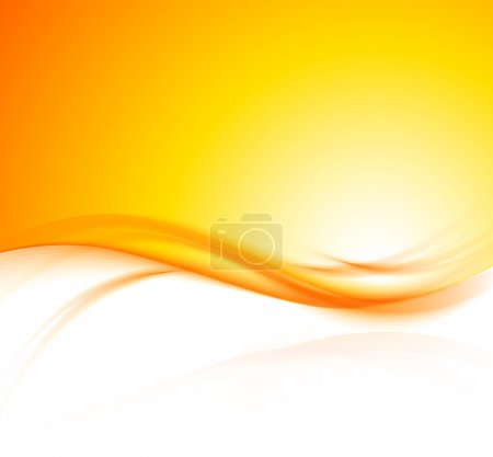 Illustration for Abstract wavy orange background with light effect - Royalty Free Image