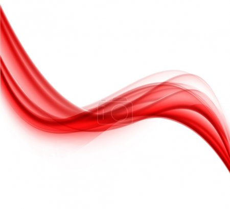 Illustration for Abstract red wave. Softness smooth dynamic illustration - Royalty Free Image