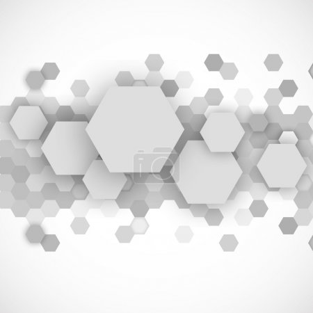 Illustration for Abstract blue hexagons background ing gray color vector illustration - Royalty Free Image