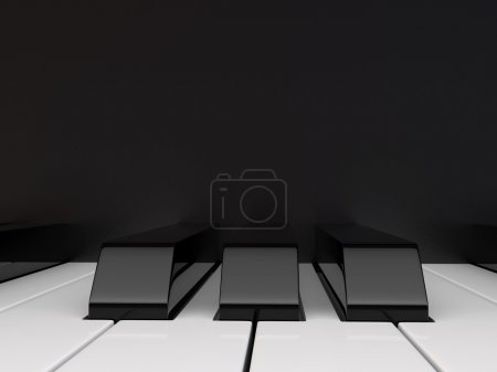 Photo for Close-up view black and white piano keyboard. - Royalty Free Image