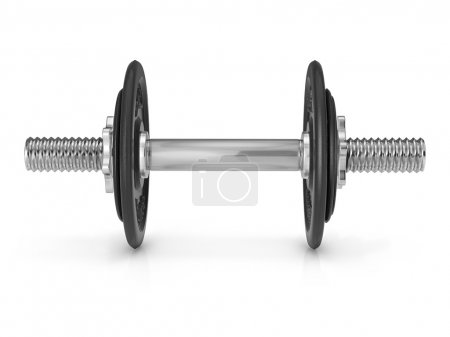 Dumbbell on white