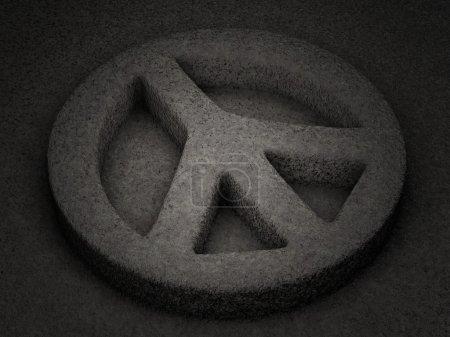 Photo pour Pierre symbole de paix fond texturé. Illustration 3D . - image libre de droit