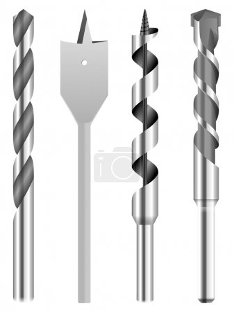 Illustration for Drill bit on a white background. - Royalty Free Image