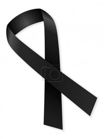 Illustration for Mourning ribbon on a white background. - Royalty Free Image