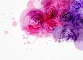 """Постер, картина, фотообои """"Абстрактный фон с розами"""""""