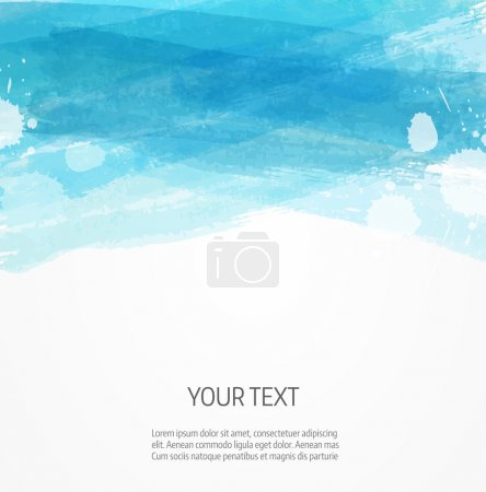 Modern watercolor background template