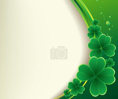Illustration pour Jour de Saint Patricks fond. Fond vectoriel trèfle - image libre de droit