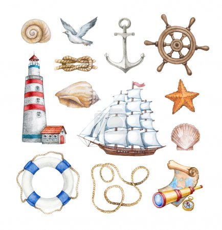 Set of  nautical illustrations