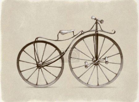 Photo pour Dessin de vélo rétro - image libre de droit