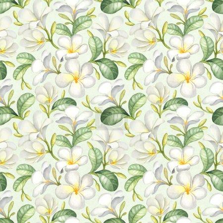 Photo pour Aquarelle motif tropical sans couture - image libre de droit