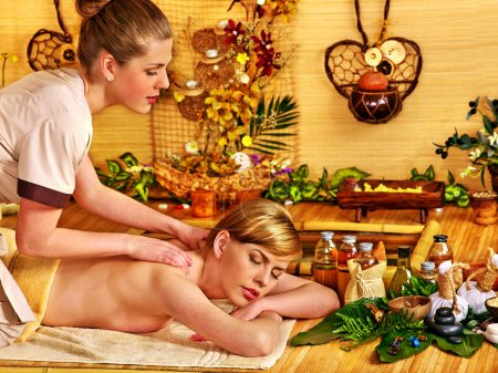 Woman getting relax massage