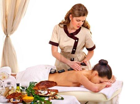 Woman getting spa