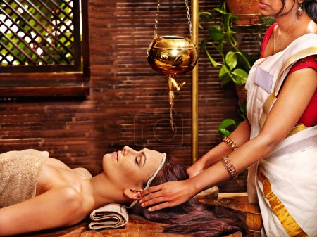 Woman and spa treatment.