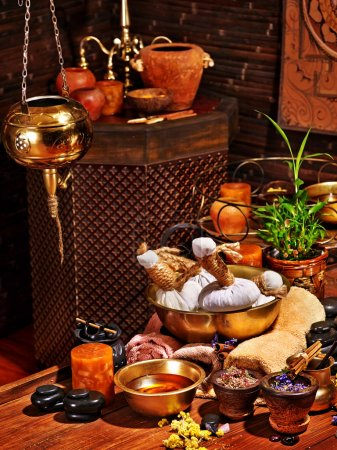 Ayurvedic spa massage