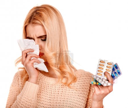Woman  having  cold.