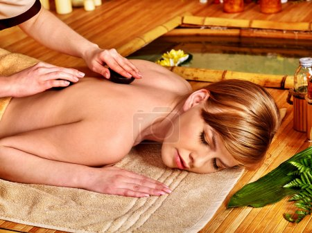 Woman getting therapy massage