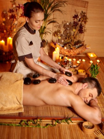 Man having spa