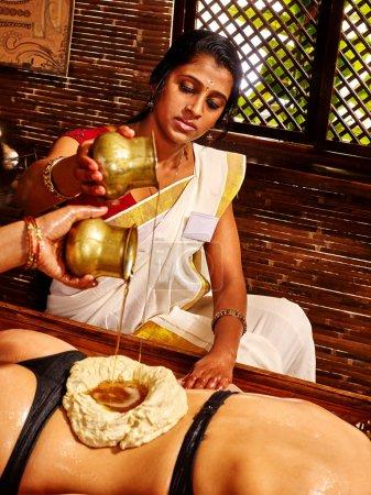 Ayurvedic spa treatment.