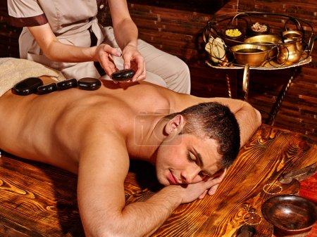 Man having Ayurvedic spa