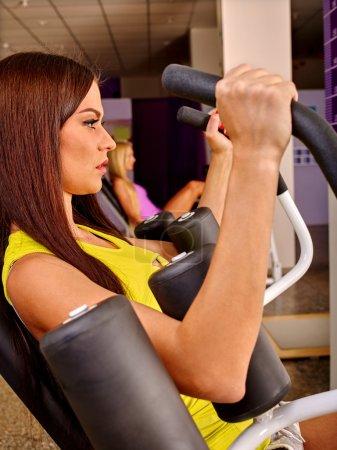 girls workout in sport gym