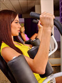 girls workout in sport gym