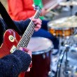 Постер, плакат: Music street performers on autumn outdoor