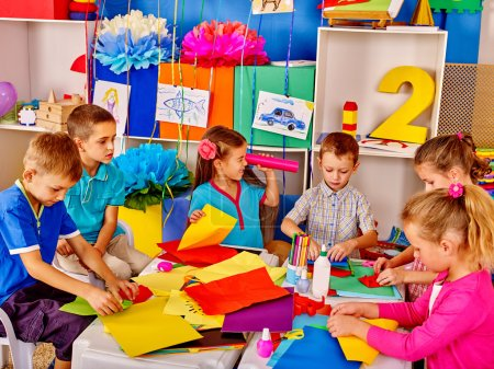 Group of kids  in kindergarten