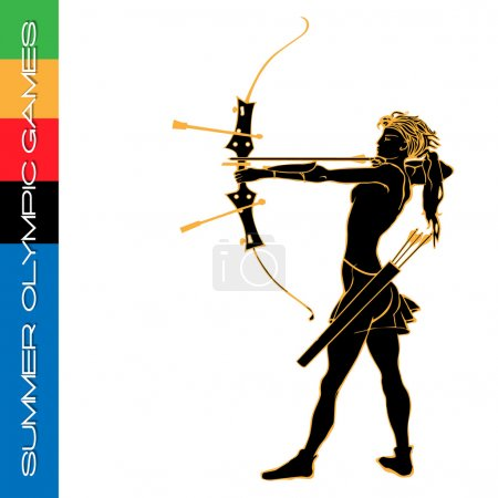 Summer Olympic games archery silhouettes