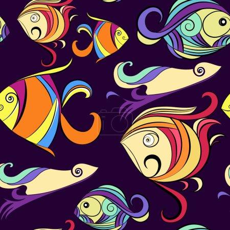 Ornamental fish,  marine print
