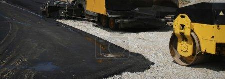 Asphalt on construction site