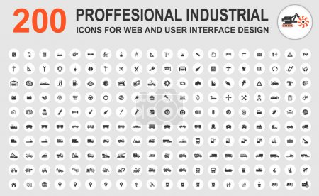 Illustration for Professional industrial icons for web and user interface - Royalty Free Image
