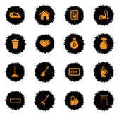 Cleaning  services vector icons for web sites and user interface