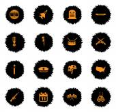 Veterans day vector icons for web sites and user interface