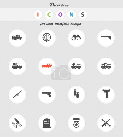 Military simply icons