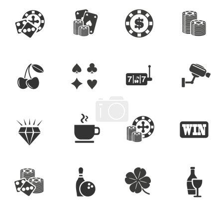Illustration pour Icônes web de casino pour la conception de l'interface utilisateur - image libre de droit