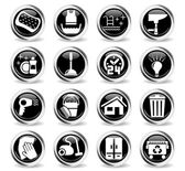 Cleaning company web icons for user interface design
