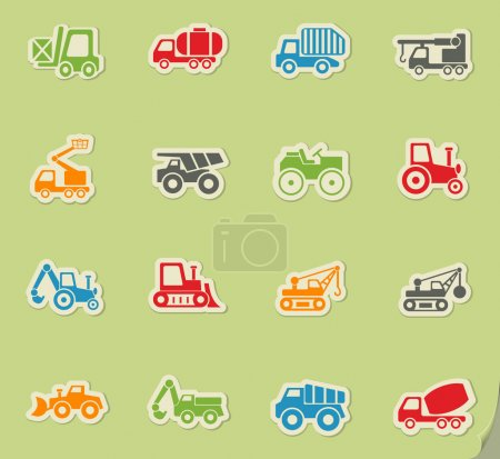 industrial transport icon set