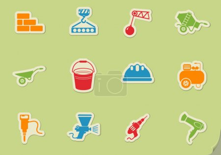 Building equipment simply symbol for web icons and...