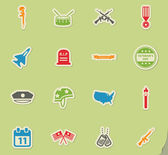 Veterans Day simply symbols for web icons