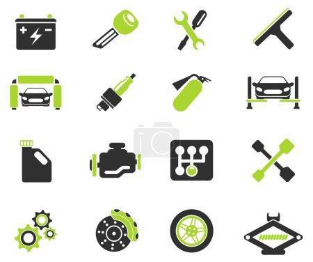 Illustration pour Icônes de service automatique - image libre de droit