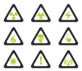 Triangular Hazard Sign Icons