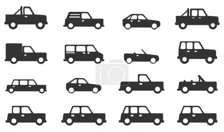 Illustration for Cars simply icons - Royalty Free Image