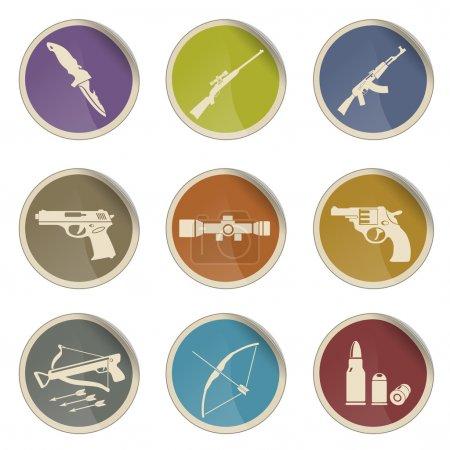 Weapon symbols icon set