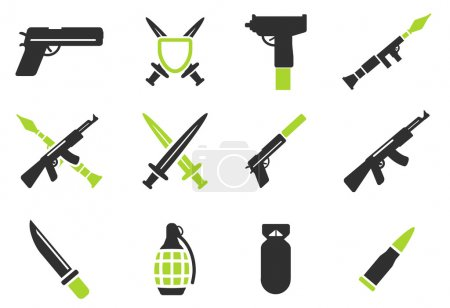 Illustration pour Arme symbole simplement pour les icônes web - image libre de droit