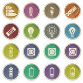 Elektřinu jednoduše ikony