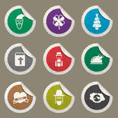 Holidays sticker icons for web