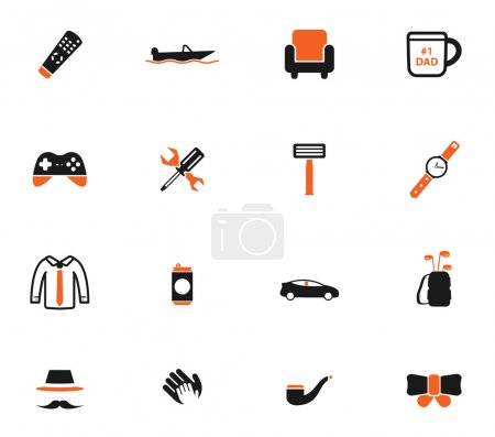 Illustration for Fathers day simply icons - Royalty Free Image