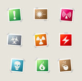 Hazard Sign Icon set