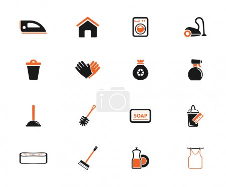 Cleaning service simply icons